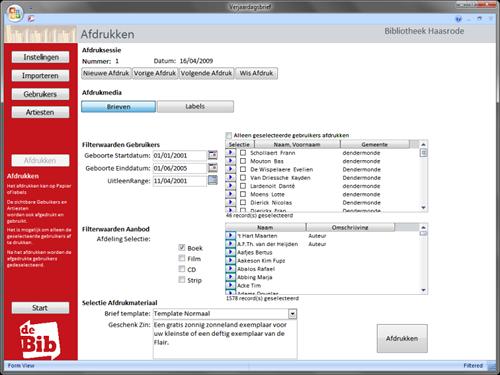 An application development in MS Access